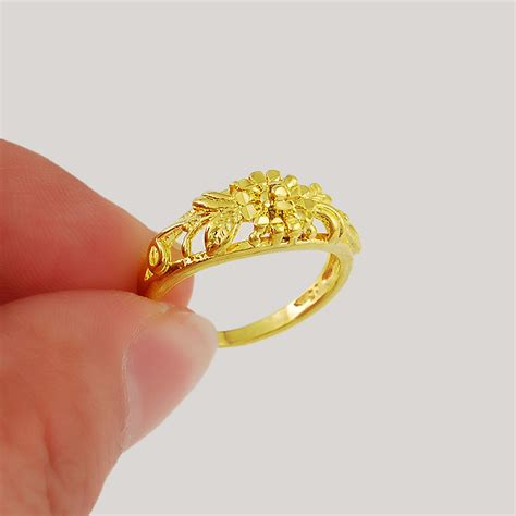 New Rings Wedding by New Gold Ring Design New 2015 New Fashion 24k Gold Colou