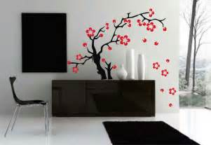 home accents wall:  flowers wall decal asian tattoo graphic home decor via tattoodonkey