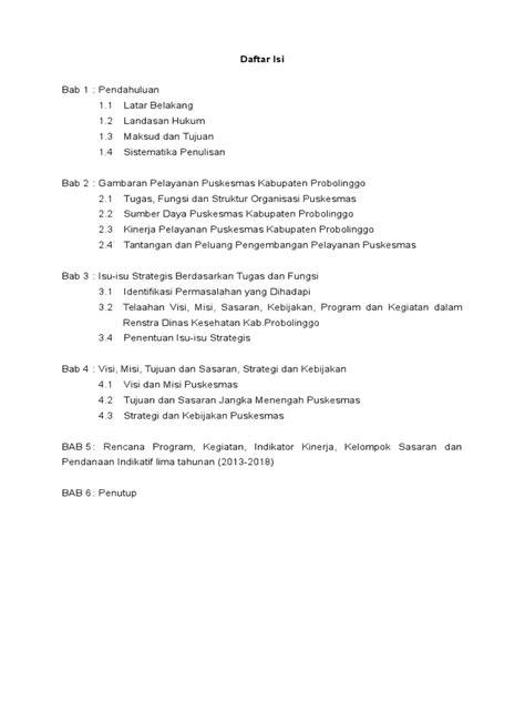 contoh bio fb contoh rencana lima tahun 2013 2018 puskesmas