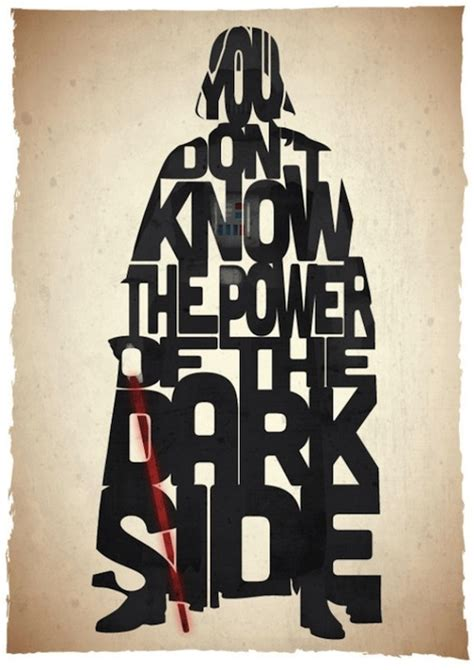 typography characters typographic posters of iconic wars quotes designtaxi
