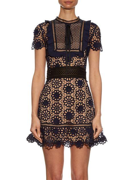 Dress Fashion self portrait louisa guipure lace dress fashion style fan