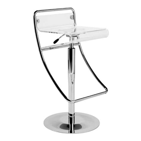 acrylic counter height bar stools eurostyle angelita adjustable height swivel bar stool w
