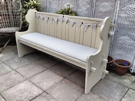 pew church bench shabby chic pew benches furniture ideas pinterest