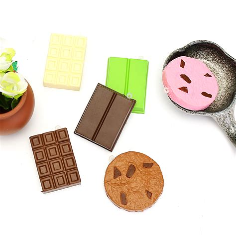Squishy Areedy Starfish squishy chocolate bar biscuit cracker 5 5x1x6cm sound with packaging collection gift decor