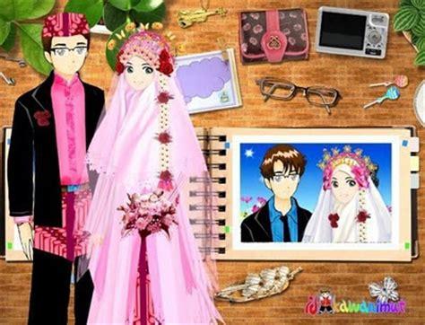 Animasi Pernikahan Islami by Gambar Animasi Pengantin Muslimah Sepertiga