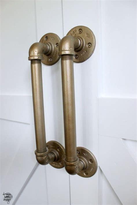 door handle how to diy an industrial pipe door handle pipes door
