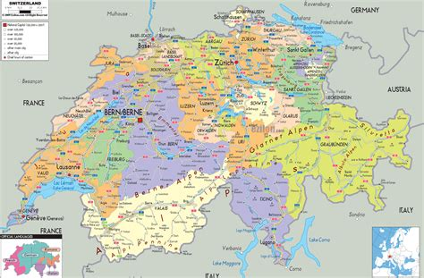 large map large detailed political and administrative map of