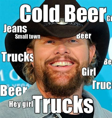 Country Music Meme - country music lyrics summed up in one picture meme