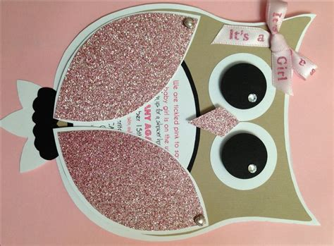 diy girl owl baby shower invites time consuming but so