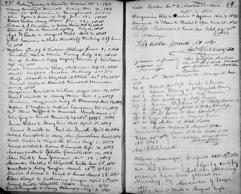 Nj Marriage Records Archives Westfield New Jersey Presbyterian Church Records