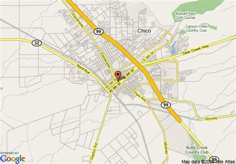california map chico map of chico days inn chico