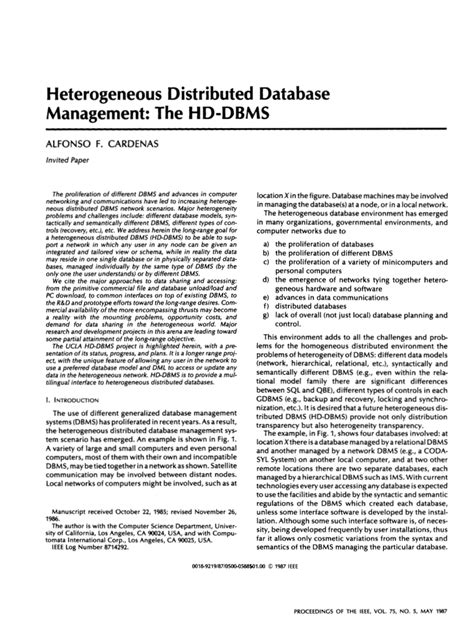 gartner research papers research paper on distributed database management system