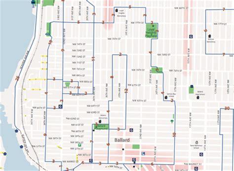 seattle map ballard city releases new recreational walking map my ballard