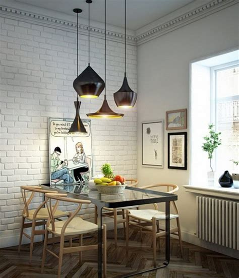 Dining Table Pendant Light How To Visually Enlarge Small Dining Room
