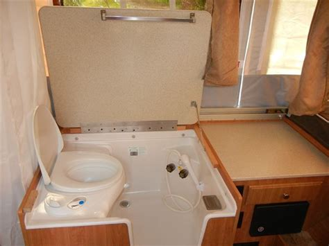 pop up trailers with bathroom and shower bathroom design 93 best images about popup trailer on pinterest toilets