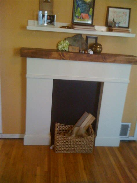 Easy Diy Fireplace Mantel by White Simple Faux Fireplace Diy Projects