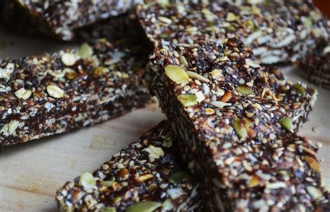 Healthy Seed Bar 16 healthy energy bar recipes daily burn