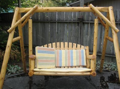 bamboo swings new relaxation on your patio yard with comfortable wooden