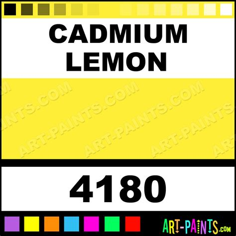 cadmium color cadmium lemon colors watercolor paints 4180 cadmium