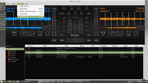 console musica with win player and mixxx dj