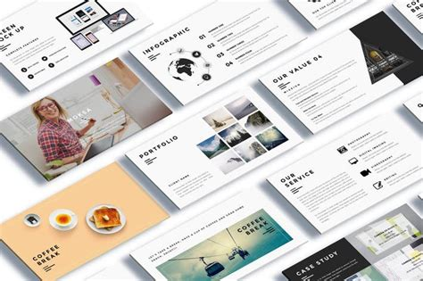 powerpoint design envato moksa creative agency powerpoint presentation by