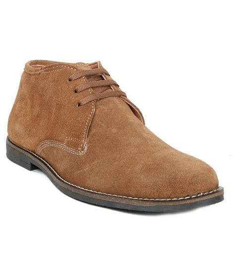 Leather Suede by Moladz Suede Leather Lace Boots Price In India Buy