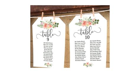vintage rose wedding seating chart card unconventional seating charts  etsy popsugar