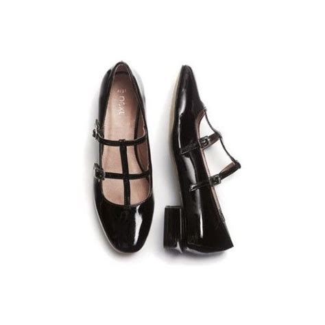 black patent leather flat shoes black patent t bar shoes 46 liked on polyvore
