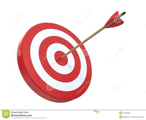 Clip On L Target by Target With Arrow Stock Illustration Image Of Arrows