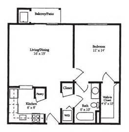 550 Sq Ft Floor Plan by Westminster Village Independent Living Floor Plans 1