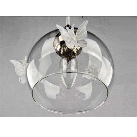 Butterfly Pendant Light Modern Glass Orb Shade And Butterfly Pendant Lighting In Brushed Browse Project Lighting And