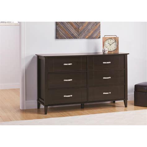 ameriwood furniture quinn 6 drawer dresser espresso