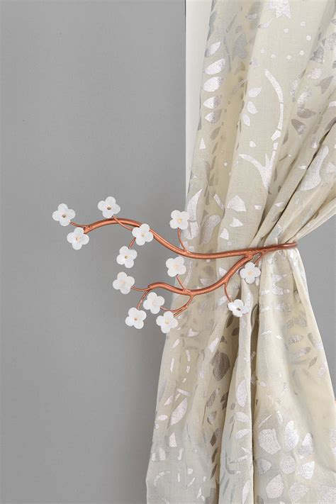 branch curtain tie back cherry blossom curtain tie back urban outfitters