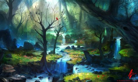 magic painting free enchanted magical forest enchanted forest by adimono on