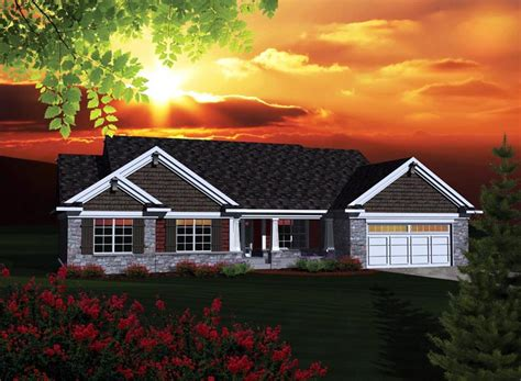 ranch style house plan    sq ft  bed