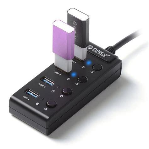 Special Orico W9ph4 4 Port Portable Usb 3 0 Hub orico w9ph4 u3 bk 4 port speed portable usb 3 0 hub