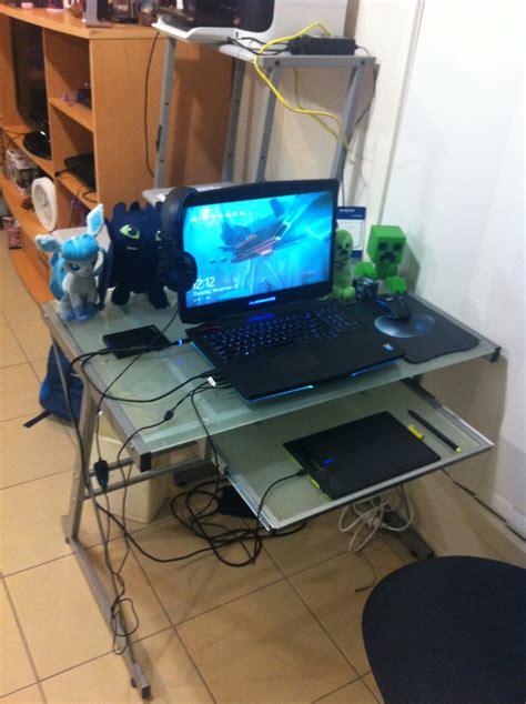 laptop desk setup amazing laptop desk setup with 1000 ideas about desk setup