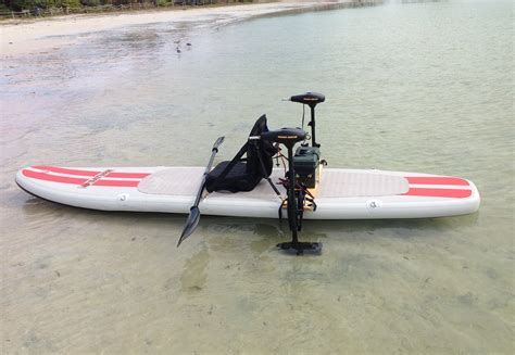 electric motor on inflatable boat 2 electric trolling motors mounted on saturn isup