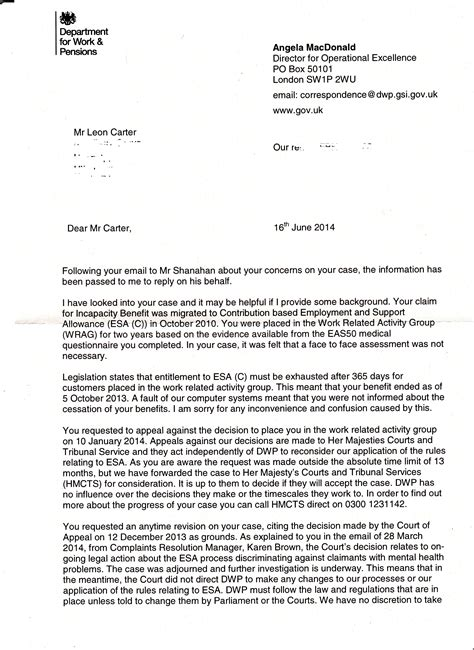 Complaint Letter Template Dwp 301 Moved Permanently