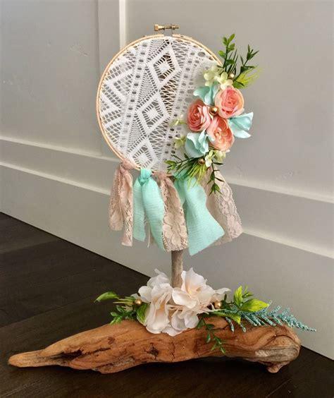 Dream Catcher Driftwood centerpiece, Boho baby, wedding