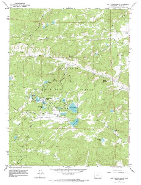 lake colorado map feather lakes topographic map co usgs topo 40105g5