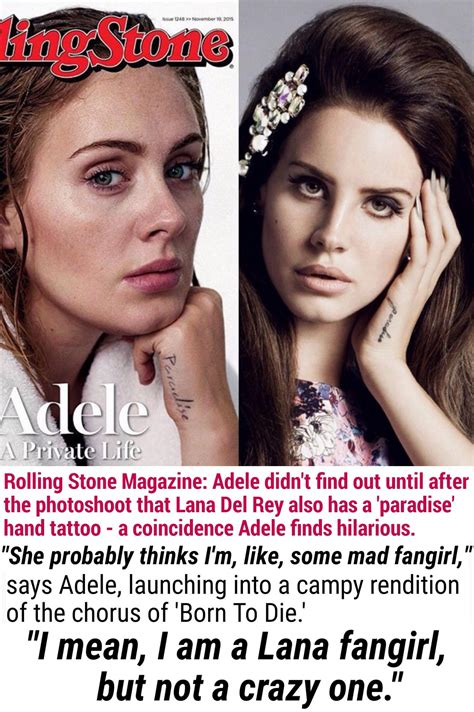 adele paradise tattoo adele mentions a third time when she