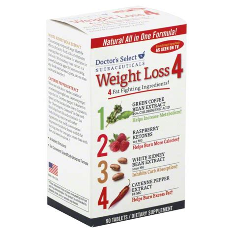 Vitamins To Take For Detox Dr Atkins by Doctor S Select Weight Loss 4 Tablets 90 Ct Health