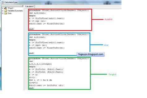 membuat kalkulator html tutorial membuat kalkulator menggunakan program delphi7