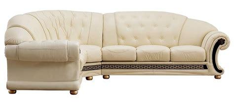 versace living room furniture cream italian leather sofa