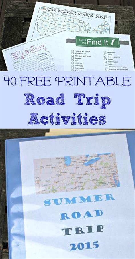 fun road trip games printable 40 free printable road trip activities for kids road
