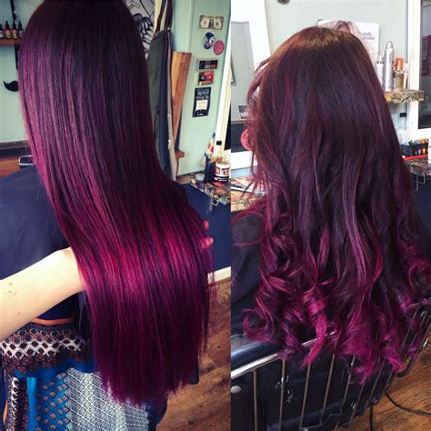color design hair color mulberry magenta purple balayage ombre hair