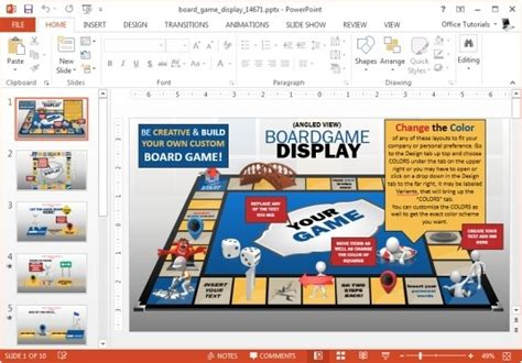 animated board game powerpoint template powerpoint