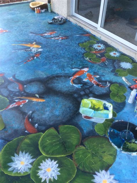 koi pond thediabeticspoon drawing realistic and stylish 162 best trompe l oeil images on pinterest murals wall