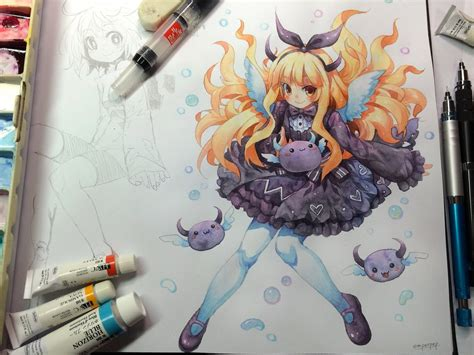 Drawing Anime With Watercolor Pencils watercolor sketch for lovexparody by emperpep on deviantart